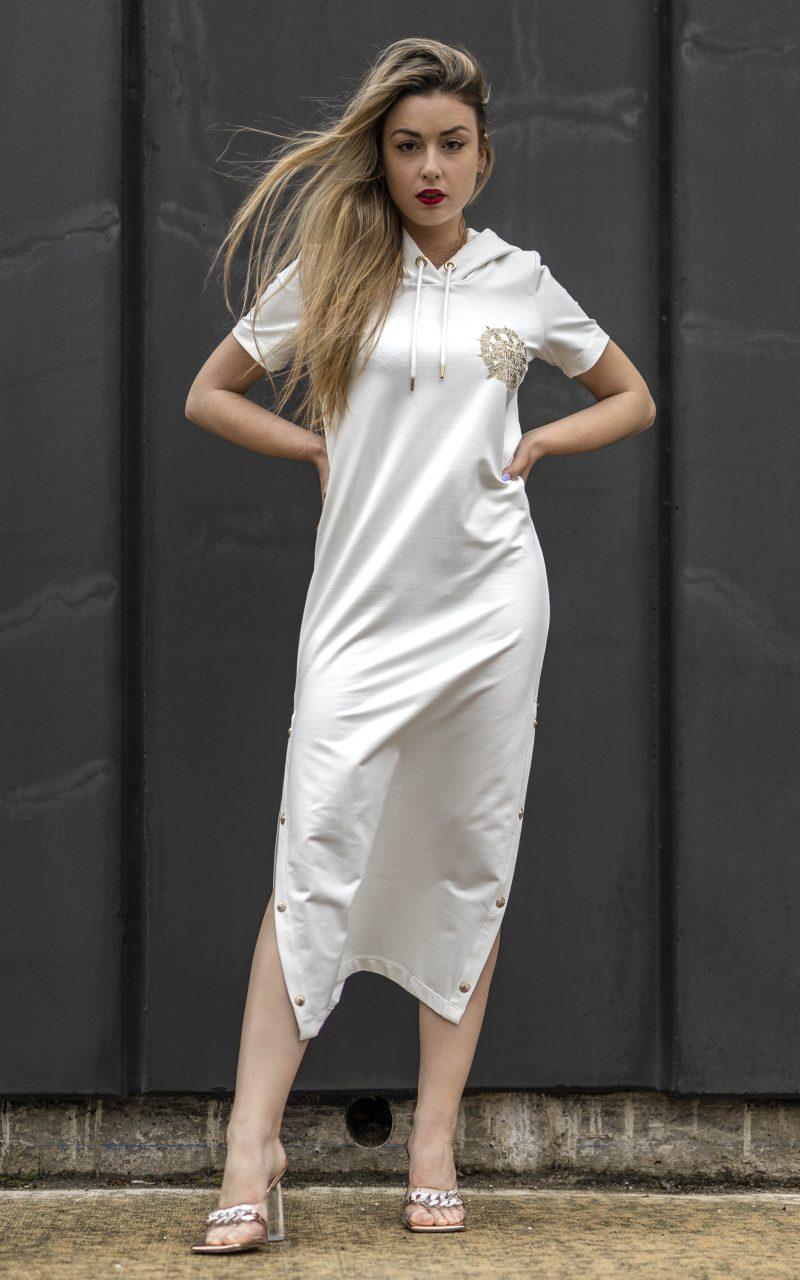 Vestido sudadera con apertura