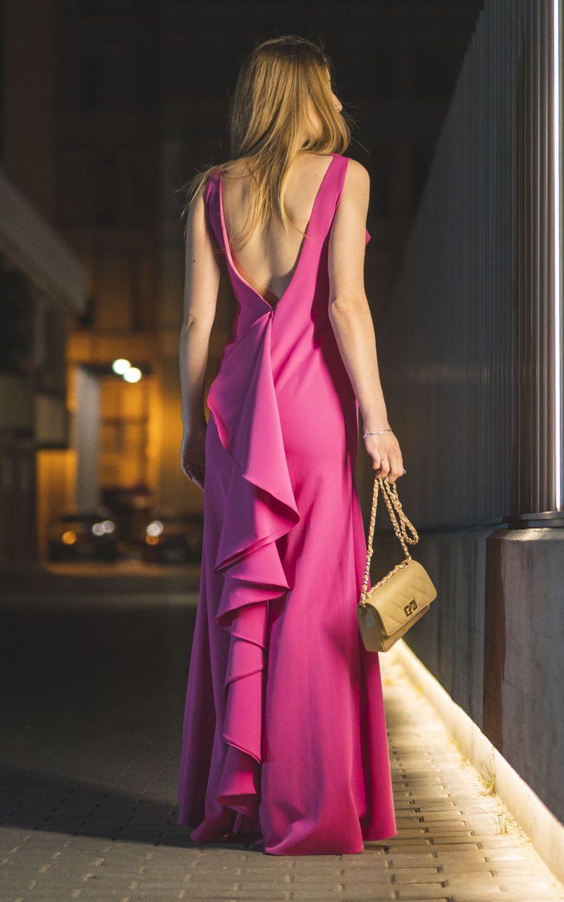 Vestido largo Crepe