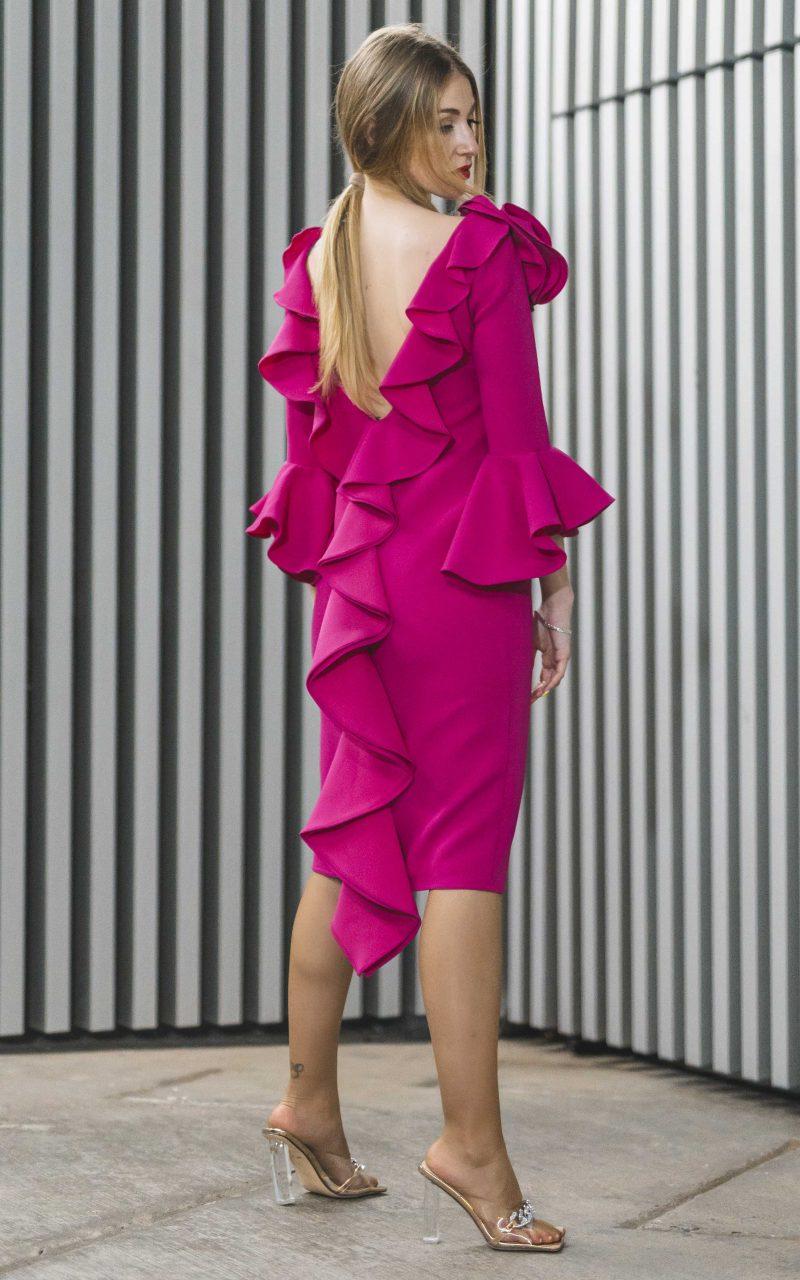 Vestido Fucsia Crepe